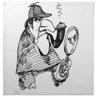 Investigación del misterio servilleta imprimida