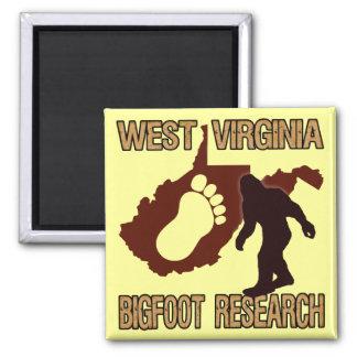 Investigación del oeste de Virgina Bigfoot Imán Cuadrado