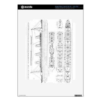 Investigación en la pérdida del titánico: Sectio c iPad 3 Skin