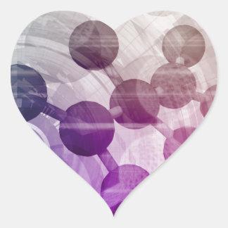 Investigación médica de la ciencia del pegatina en forma de corazón