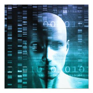 """Investigación médica en genética y ciencia de la invitación 5.25"""" x 5.25"""""""