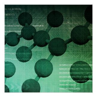 Investigación médica y tecnología corporativa como perfect poster