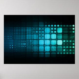 Investigación médica y tecnología corporativa póster