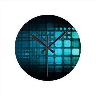 Investigación médica y tecnología corporativa reloj redondo mediano