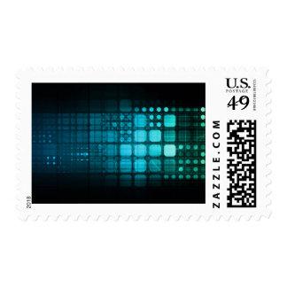 Investigación médica y tecnología corporativa sellos