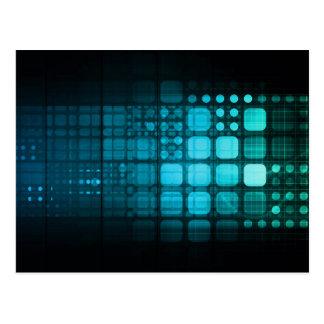 Investigación médica y tecnología corporativa tarjetas postales