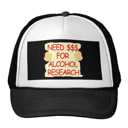 Investigación negra del alcohol de la necesidad $$ gorro