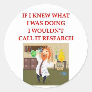 investigación etiquetas redondas