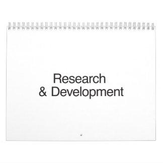 Investigación y desarrollo calendarios