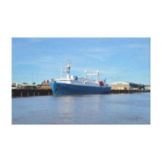 Investigación y explorador del mar del buque de la impresiones en lienzo estiradas