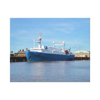 Investigación y explorador del mar del buque de la lienzo envuelto para galerias