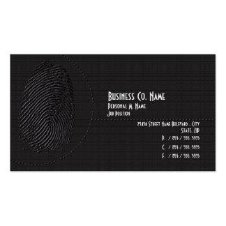 Investigaciones privadas de la seguridad moderna tarjetas de visita