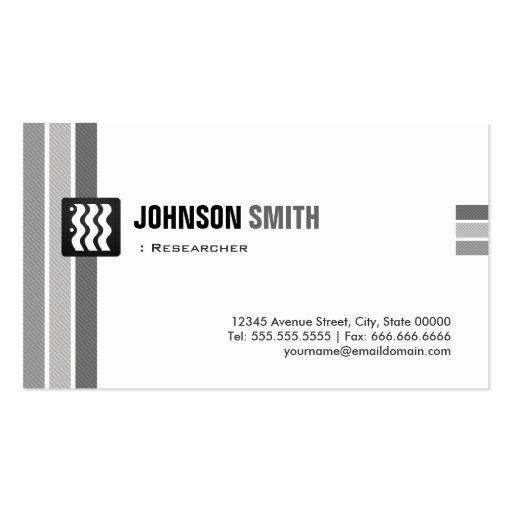 Investigador - blanco negro creativo tarjeta personal