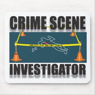 INVESTIGADOR DE LA ESCENA DEL CRIMEN MOUSE PADS