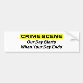 Investigador de la escena del crimen pegatina para auto