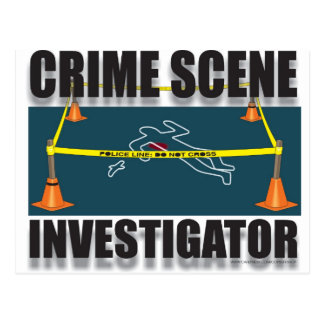 INVESTIGADOR DE LA ESCENA DEL CRIMEN POSTALES