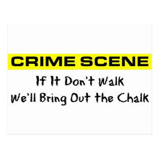 Investigador de la escena del crimen tarjetas postales