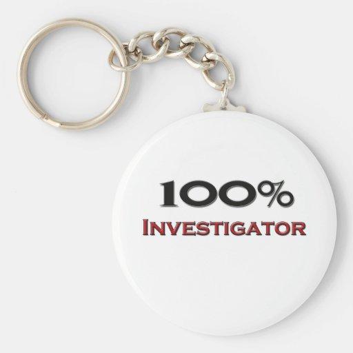 Investigador del 100 por ciento llavero