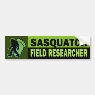 Investigador del campo de Sasquatch Pegatina Para Auto