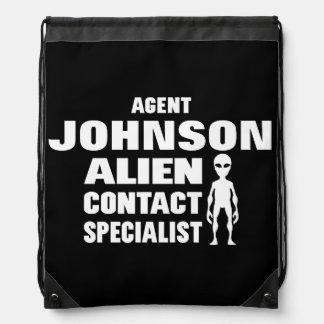 Investigador extranjero de la ciencia ficción mochilas