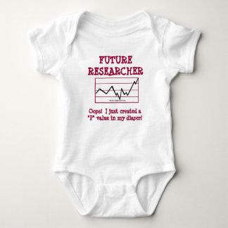 Investigador futuro body para bebé