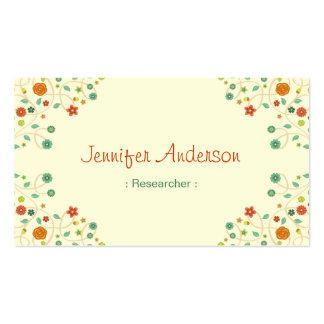 Investigador - naturaleza elegante elegante tarjetas de visita
