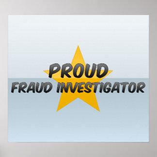Investigador orgulloso del fraude poster