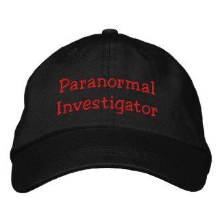 Investigador paranormal gorra de beisbol bordada