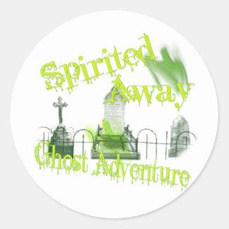 Investigador paranormal etiqueta redonda