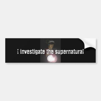 Investigador paranormal pegatina para auto