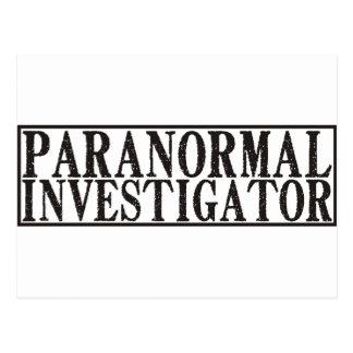 Investigador paranormal postales