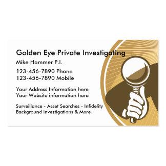 Investigador privado y vigilancia tarjetas de visita