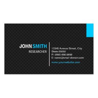 Investigador - rejilla moderna de la tela cruzada tarjetas de visita