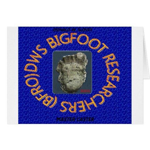 investigadores de Bigfoot de los dws Felicitacion