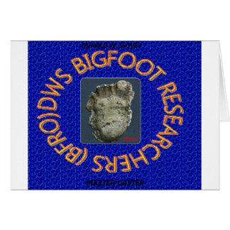 investigadores de Bigfoot de los dws Tarjeta De Felicitación
