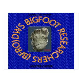 investigadores de Bigfoot de los dws Tarjeta Postal