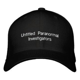 Investigadores paranormales sin título gorra de béisbol bordada