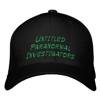 Investigadores paranormales sin título gorra de beisbol bordada
