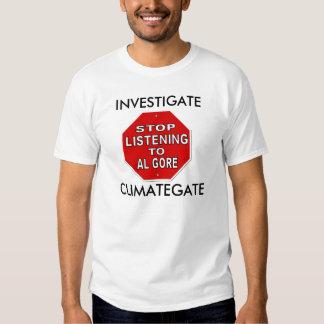 Investigate ClimateGate - Global Warming Hoax Tee Shirt