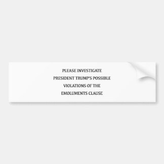 Investigate Trump Bumper Sticker
