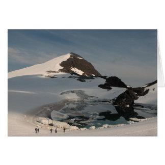 Investigating superglacial Lake Linda Greeting Card