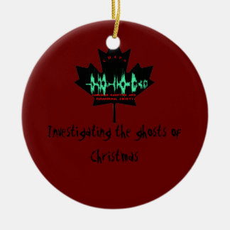 Investigating the ghosts of Christmas Double-Sided Ceramic Round Christmas Ornament