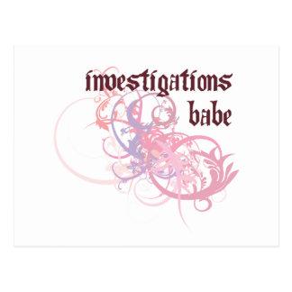 Investigations Babe Postcard
