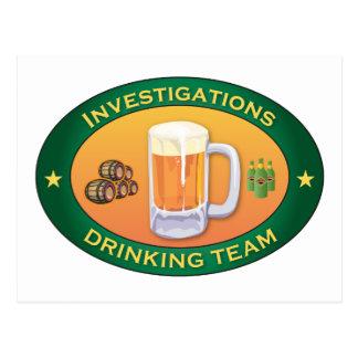 Investigations Drinking Team Postcard