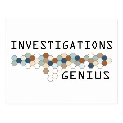 Investigations Genius Post Card