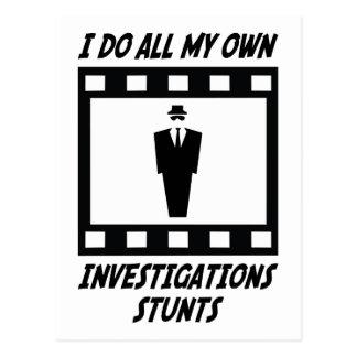 Investigations Stunts Postcard