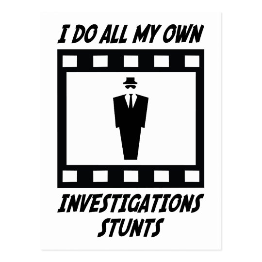 Investigations Stunts Postcard