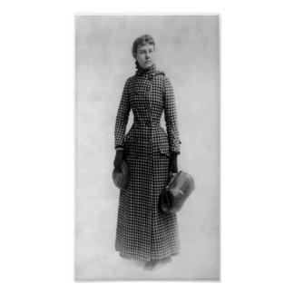 INVESTIGATIVE REPORTER NELLIE BLY 1890 POSTER