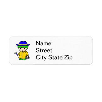 Investigator Boy 2 Custom Return Address Label