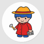 Investigator Boy Sticker